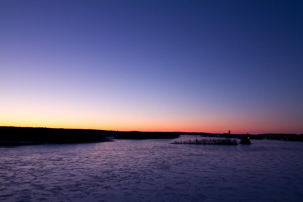 Soluppgång sedd från Strängnäsbron