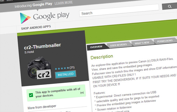 CR2-Thumbnailer app on Google Play