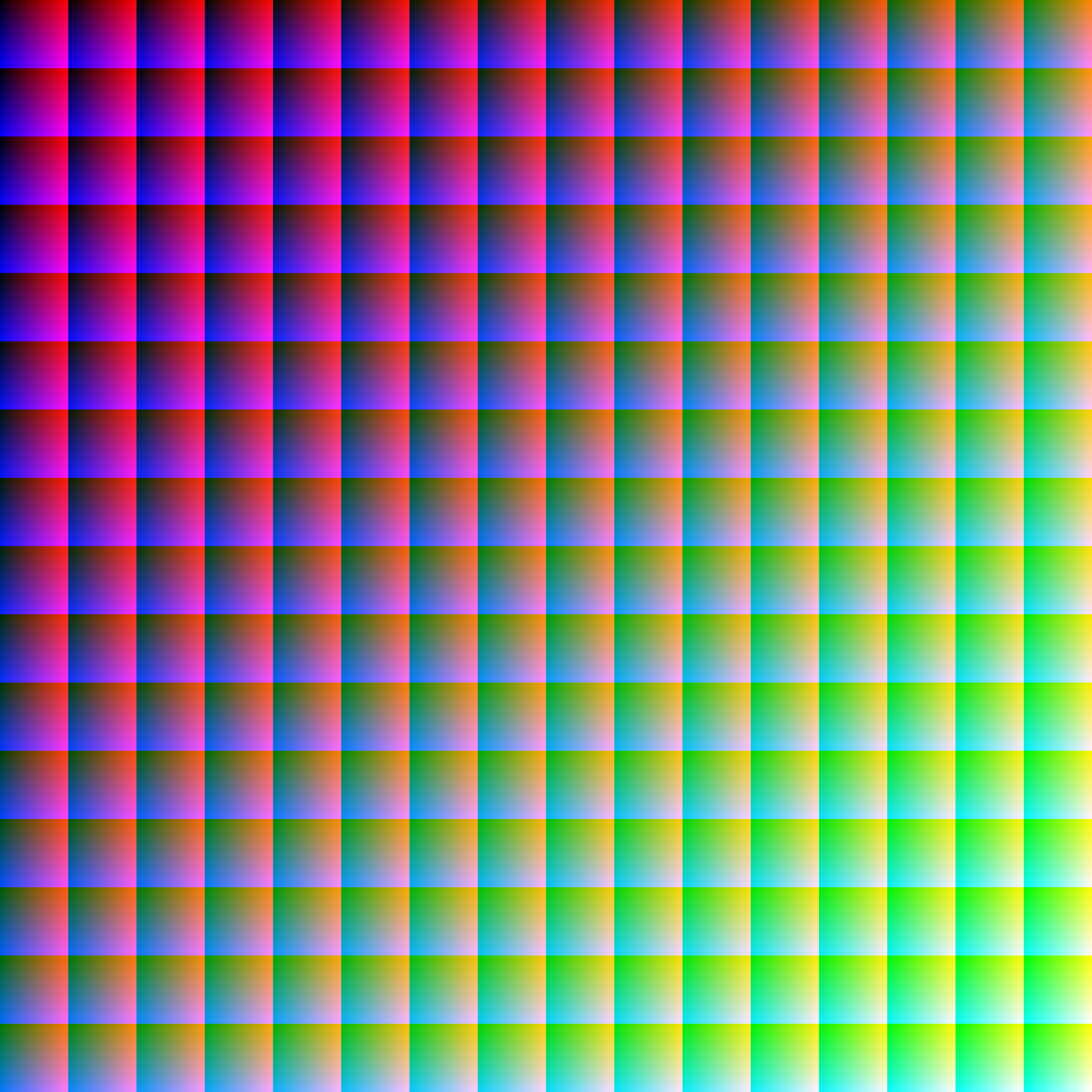 All 16,777,216 RGB colors in one picture with no repeat ...