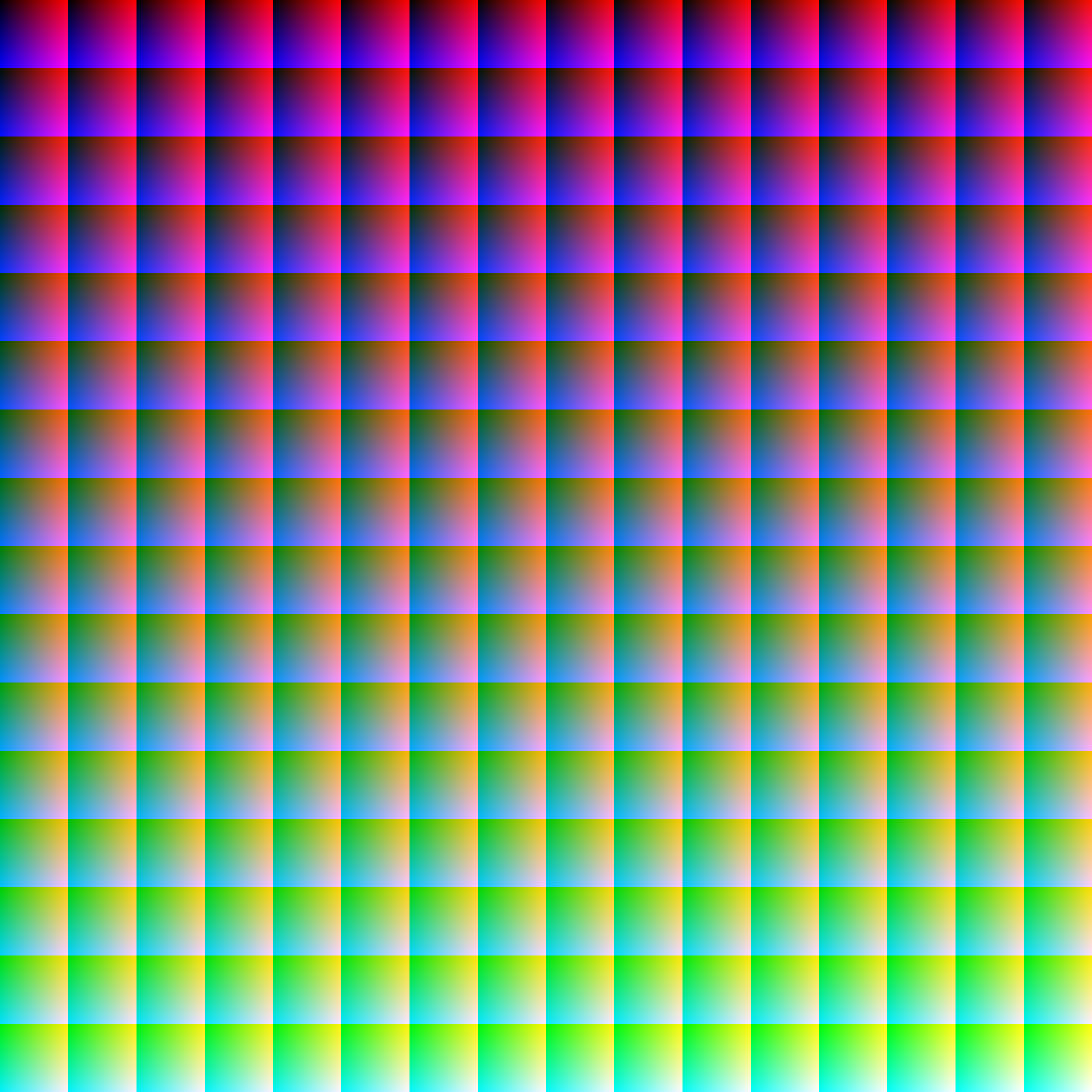 All 16,777,216 RGB colours « David Naylor: Blog