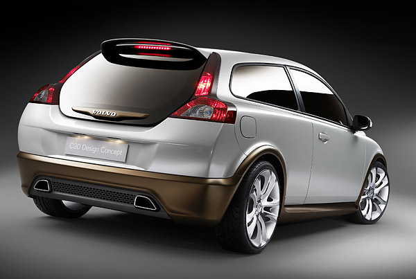 Volvo C30 Concept from behind.