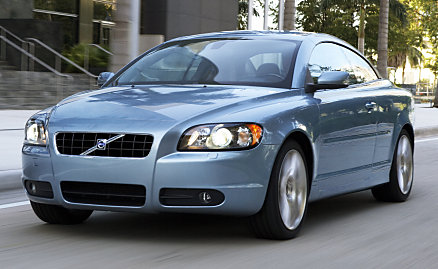 The new Volvo C70, seen from the front.