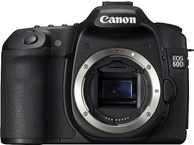 Photoshop mock-up of the Canon EOS 60D