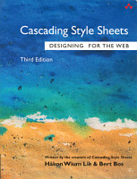 The front cover of Cascading Style Sheets - Designing for the Web.