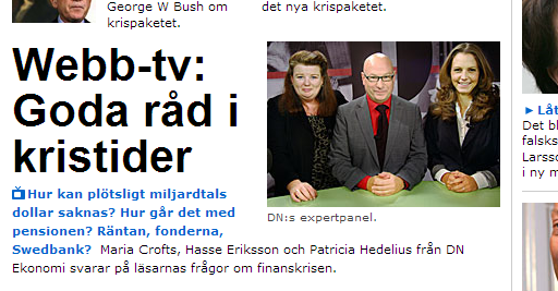 skärmdump på en ful bild på dn.se