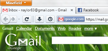 Firefox 4 beta with tabs on top.