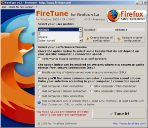 Screenshot of Firetune v0.5