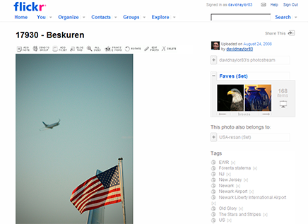 Screenshot of a photo on flickr