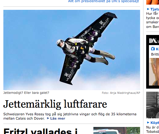 screenshot from dn.se