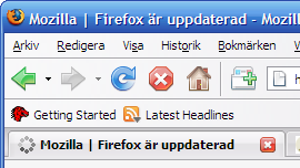 Screenshot of Saturated, a theme for Firefox based on the original theme of Firefox 2.