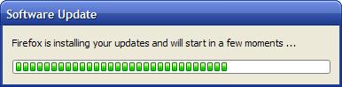 Updating Firefox, after restart