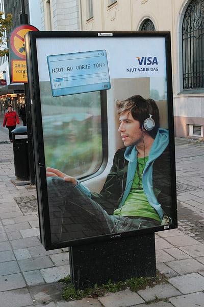 Visa advertising poster.
